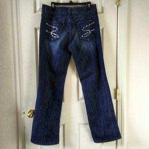 Seven7 Studio Embellished pocket jeans 12